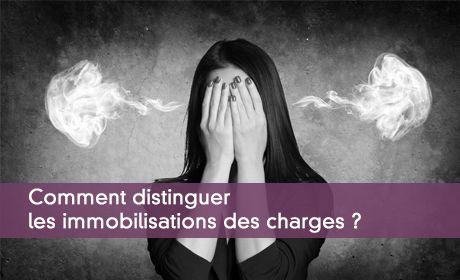 Différence entre charges et immobilisations